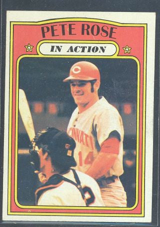 Baseball Cards - 1972 Topps Pete Rose IA #560 - Reds
