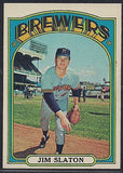 Baseball Cards - 1972 Topps Jim Slaton #744 - Brewers