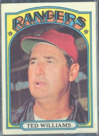 Baseball Cards - 1972 Topps Ted Williams #510 - Rangers