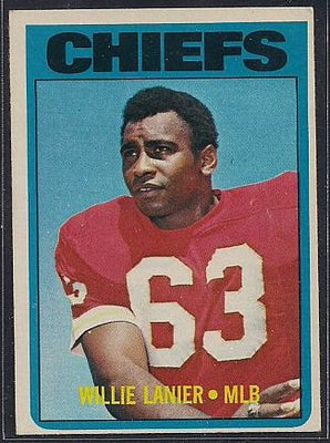 Football Cards - 1972 Topps Willie Lanier #272 - Chiefs