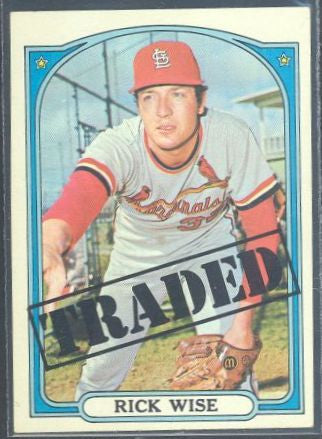 Baseball Cards - 1972 Topps Rick Wise #756 - Cardinals