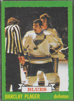 Hockey Cards - 1973-74 - Topps Barclay Plager #47- Blues