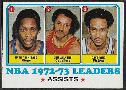 Basketball Cards - 1973-74 Topps - Assist Leaders - #158- Archibald/Wilkens/Bing