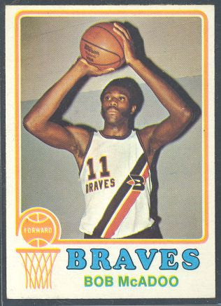 Basketball Cards - 1973-74 Topps Bob McAdoo #135 Rookie - Braves