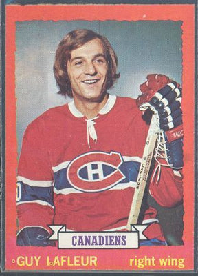 Hockey Cards - 1973-74 Topps Guy Lafleur #72 - Canadiens