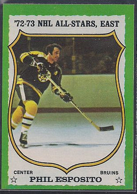 Hockey Cards - 1973-74 Topps Phil Esposito #120 - Bruins - All Star