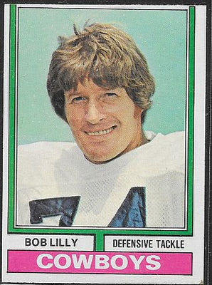 Football Cards - 1974 Topps - Bob Lilly  #250 - Cowboys