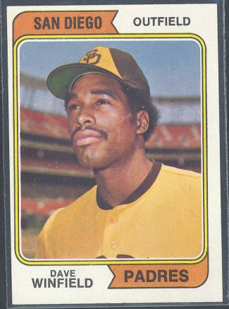 Baseball Cards - 1974 Topps Dave Winfield Rookie #456 - Padres