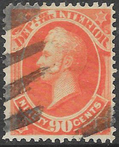 US O24 Used - Dept of the Interior - Commodore Perry