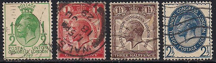 Great Britain 205-208 Used - George V