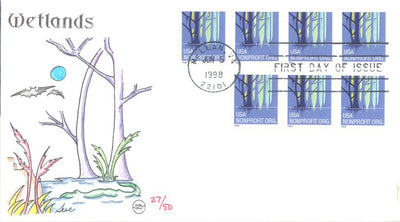 US 3207 FDC - Steve Wilson Cachet 27 of 50 - Wetlands
