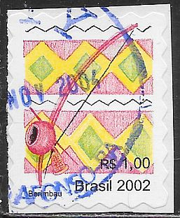 Brazil 2877A Used - Berimbau - On Paper