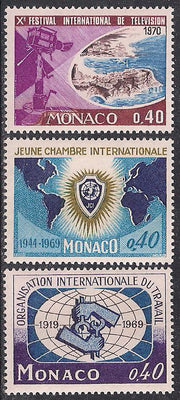 Monaco 748-750 MNH - Various Issues