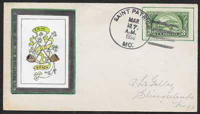 US St. Patrick's Day Event Cover - March 17,1950