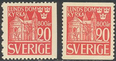 Sweden 370 & 373 Unused/Hinged - Lund Cathedral
