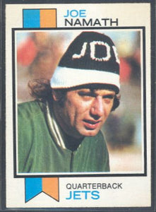 Football Cards - 1973 Topps Joe Namath #400 - Jets