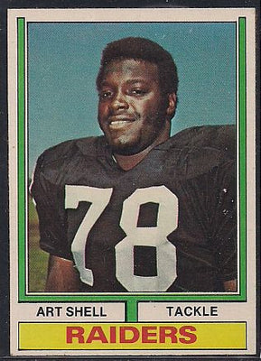 Football Cards - 1974 Topps Art Shell #272 - Raiders