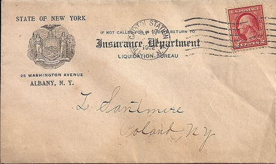 US 2¢ Washington/Franklin - Advertising Cover - Albany, NY