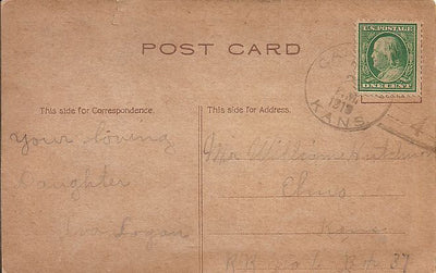 US 1¢ Washington/Franklin Doane Cancel Cover - Postcard - Christmas