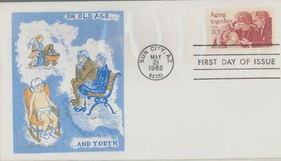 US 2011 FDC - Doris Gold Cachet - Aging Together