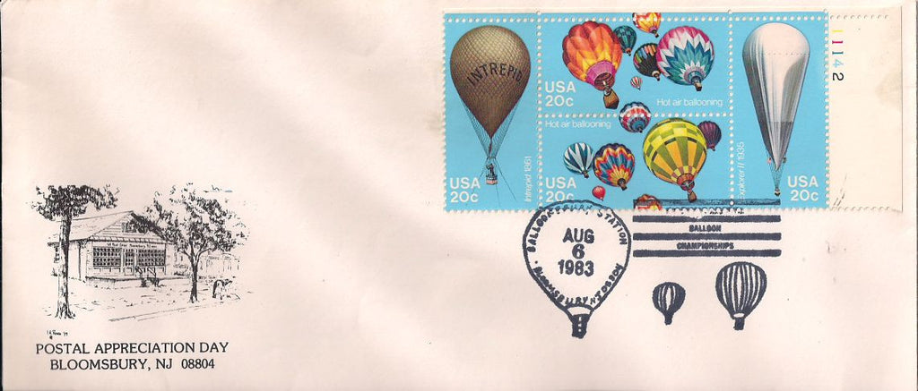 US 2035a Event Cover - Balloon Championships