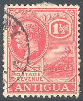 Antigua 45 Used - Paper on Back - St. John's Harbor - George V