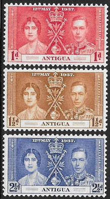 Antigua 81-83 Unused/Hinged Hinge Remnant - George VI Coronation