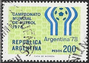 Argentina 1179 Used - 11th World Cup Soccer Championships - Emblem