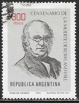 Argentina 1249 Used - Sir Rowland Hill
