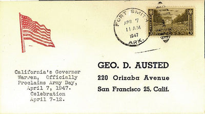 US Event Cover - Army Day 1947