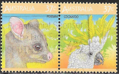 Australia 1035a-1035b Used - Fauna - Possum - Cockatoo