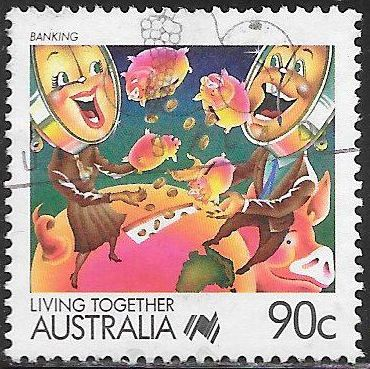 Australia 1076 Used - Living Together - Banking