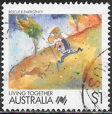 Australia 1078 Used - Living Together - ‭Rescue & Emergency Services