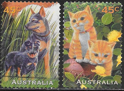 Australia 1564-1565 Used - Pets - Dogs & Cats