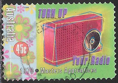 "Australia 1669 Used - ‭Rock & Roll in Australia - ‭‭""Turn Up Your Radio,"" by The Masters Apprentices, 1970"
