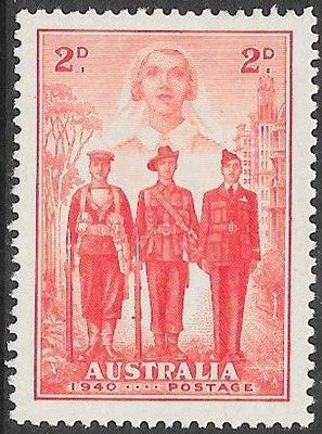 Australia 185 Unused/Hinged - ‭‭Australia's Participation in WWII