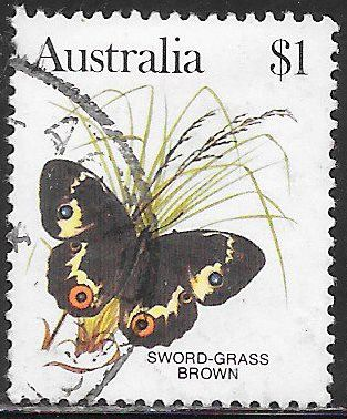 Australia 880 Used - Butterflies - Sword Grass Brown