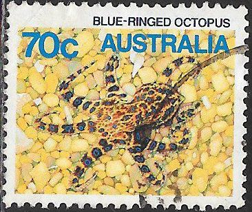 Australia 916 Used - Sea Life - Blue-Ringed Octopus