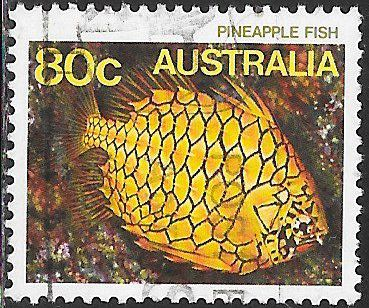 Australia 917 Used - Sea Life - Pineapple Fish