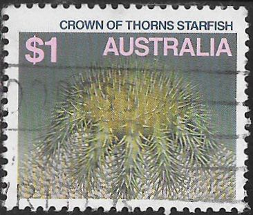 Australia 920 Used - Sea Life - Crown of Thorns Starfish