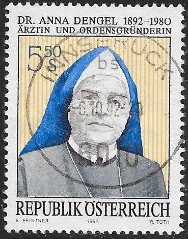 Austria 1572 Used - Birth Centenary of Dr. Anna Dengel (1892-1980)