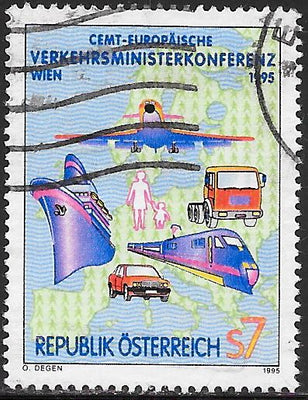 Austria 1678 Used - ‭‭‭1995 Conference of Ministers of Transportation, Vienna