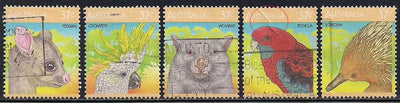 Australia 1035a-1035e Used - Animals - 1035d Crease