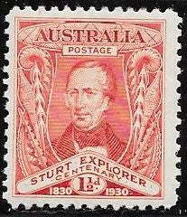 Australia 104 Unused/Hinged - Hinge Remnant - Captain Charles Sturt