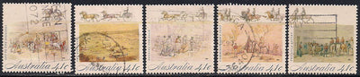 Australia 1181a-1181e Used - Gold Rush