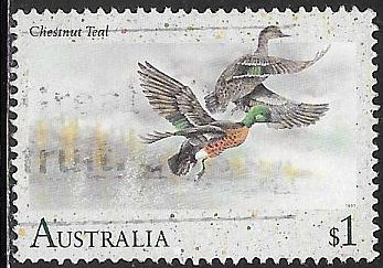 Australia 1206 Used - Water Birds - Chestnut Teal