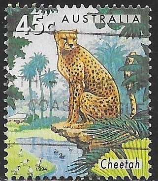 Australia 1386 Used - Australian Zoo Animals - ‭Cheetah