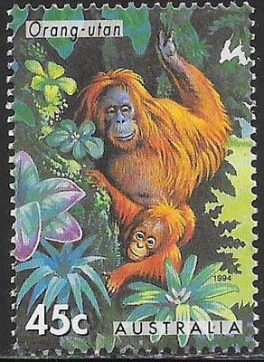 Australia 1388 Used - Australian Zoo Animals - ‭Orangutan