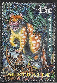 Australia 1618 Used - Nocturnal Animals - Spotted-Tailed Quoll
