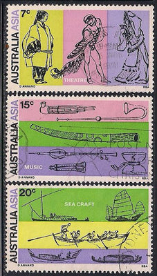 Australia 493-495 Used - ‭Link between Australia and Asia